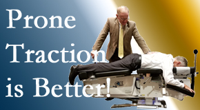 Buffalo, NY spinal traction applied lying face down – prone – is best according to the latest research. Visit The Novelli Wellness Center.