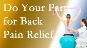 The Novelli Wellness Center invites back pain sufferers to participate in their own back pain relief recovery.