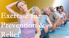 The Novelli Wellness Center suggests exercise as a key part of the back pain and neck pain treatment plan for relief and prevention.
