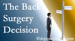 Buffalo, NY back surgery for a disc herniation is an option to be carefully studied before a decision is made to proceed.