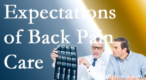 The pain relief expectations of Buffalo, NY back pain patients influence their satisfaction with chiropractic care. What's realistic?