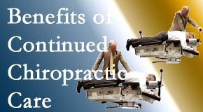 The Novelli Wellness Center offers continued chiropractic care (aka maintenance care) as it is research-documented to be effective.