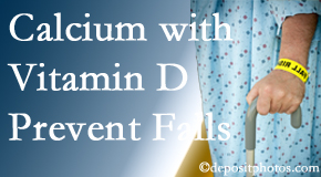 Calcium and vitamin D supplementation may be recommended to Buffalo, NY chiropractic patients who are at risk of falling.