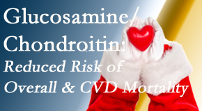 The Novelli Wellness Center shares new research supporting the habitual use of chondroitin and glucosamine which is shown to reduce overall and cardiovascular disease mortality.