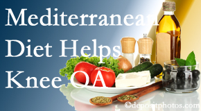 The Novelli Wellness Center shares recent research about how good a Mediterranean Diet is for knee osteoarthritis as well as quality of life improvement.