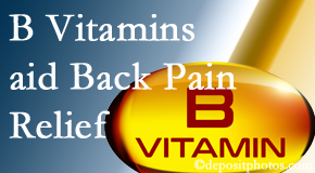 The Novelli Wellness Center may include B vitamins in the Buffalo, NY chiropractic treatment plan of back pain sufferers.