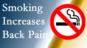 The Novelli Wellness Center explains that smoking heightens the pain experience especially spine pain and headache.