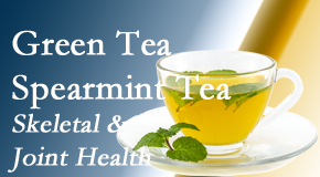The Novelli Wellness Center shares the benefits of green tea on skeletal health, a bonus for our Buffalo, NY chiropractic patients.