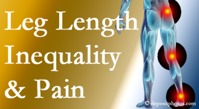 The Novelli Wellness Center checks for leg length inequality as it is related to back, hip and knee pain issues.