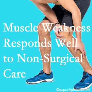 Buffalo, NY chiropractic non-surgical care often improves muscle weakness in back and leg pain patients.