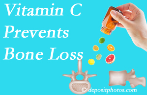 The Novelli Wellness Center may recommend vitamin C to patients at risk of bone loss as it helps prevent bone loss.