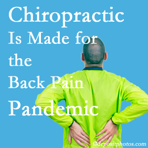 Buffalo, NY chiropractic care at The Novelli Wellness Center is prepared for the pandemic of low back pain.