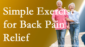 The Novelli Wellness Center encourages simple exercise as part of the Buffalo, NY chiropractic back pain relief plan.