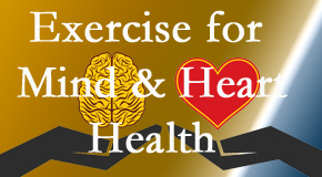 A healthy heart helps maintain a healthy mind, so The Novelli Wellness Center encourages exercise.