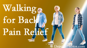 The Novelli Wellness Center often recommends walking for Buffalo, NY back pain sufferers.