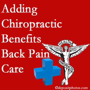 Added Buffalo, NY chiropractic to back pain care plans helps back pain sufferers.