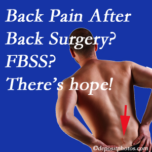 Buffalo, NY chiropractic care offers a treatment plan for relieving post-back surgery continued pain (FBSS or failed back surgery syndrome).
