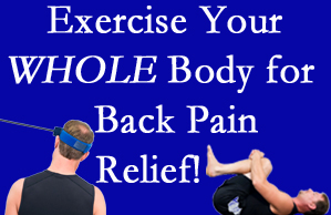Buffalo, NY chiropractic care includes exercise to help enhance back pain relief at The Novelli Wellness Center.