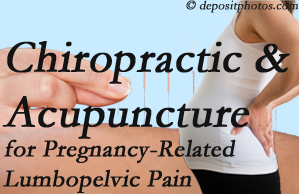 Buffalo, NY chiropractic and acupuncture may help pregnancy-related back pain and lumbopelvic pain.