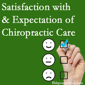 Buffalo, NY chiropractic care delivers patient satisfaction and meets patient expectations of pain relief.