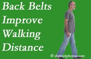 The Novelli Wellness Center sees benefit in recommending back belts to back pain sufferers.