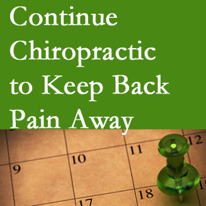 Continued Buffalo, NY chiropractic care helps keep back pain away.