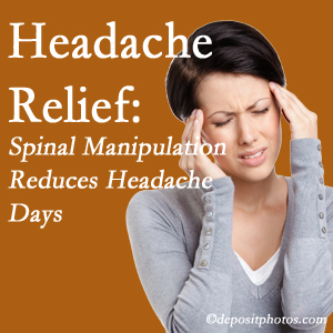 Buffalo, NY chiropractic care at The Novelli Wellness Center may reduce headache days each month.