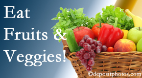The Novelli Wellness Center urges Buffalo, NY chiropractic patients to eat fruits and vegetables to decrease inflammation and potentially live longer.