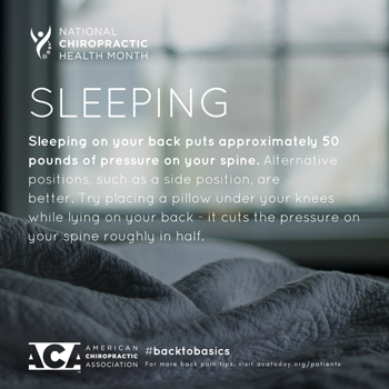 The Novelli Wellness Center recommends putting a pillow under your knees when sleeping on your back.
